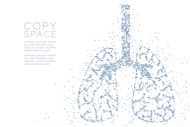Abstract geometric circle dot pattern lung shape Premium Vector