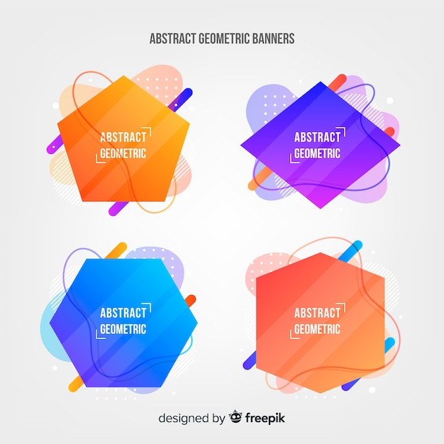 Abstract geometric collection Free Vector