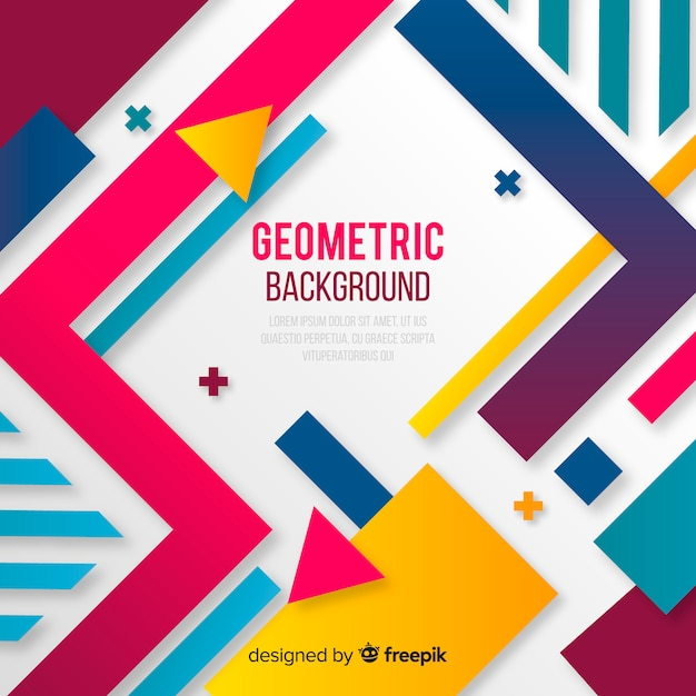 Abstract geometric colorful background Vector Free Download