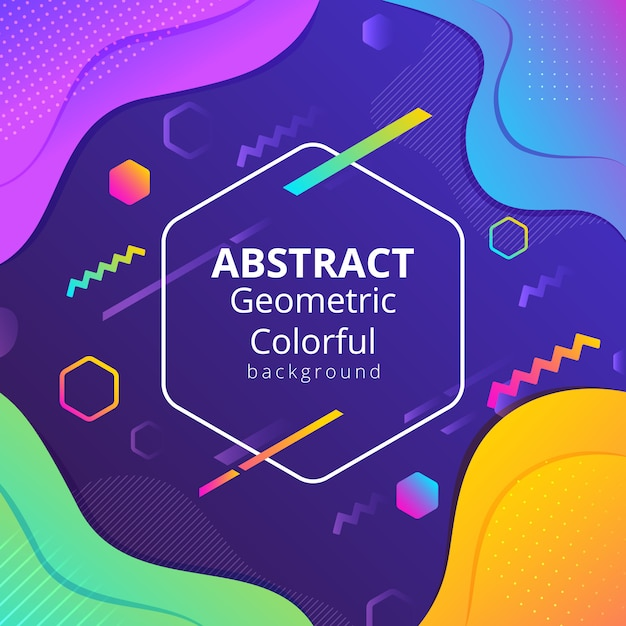 Abstract geometric colorful background Premium Vector