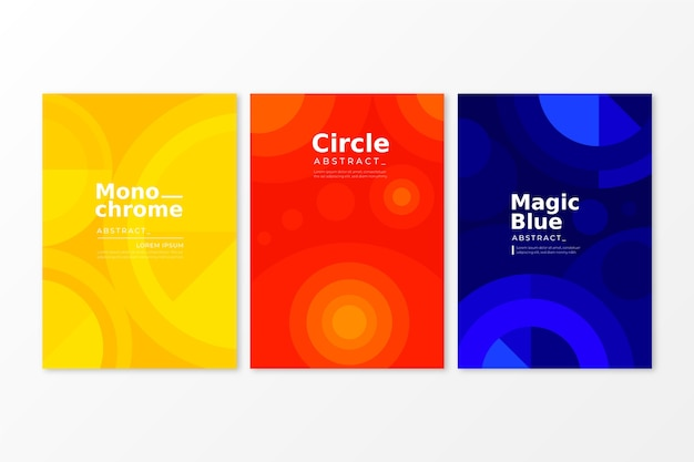 Abstract geometric cover collection concept Free Vector