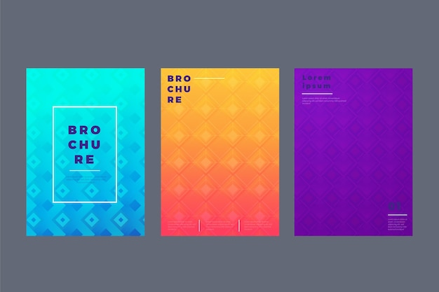 Abstract geometric cover collection Free Vector