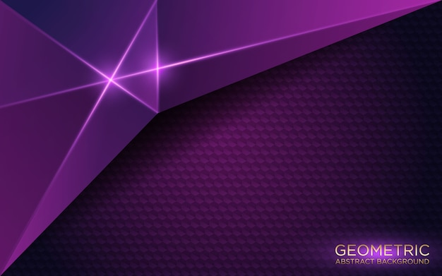 Abstract geometric dark purple background Premium Vector