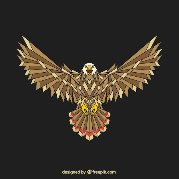 Abstract Geometric Eagle Vector Free Download