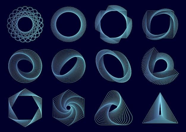 抽象的な幾何要素ベクトルを設定 無料ベクター