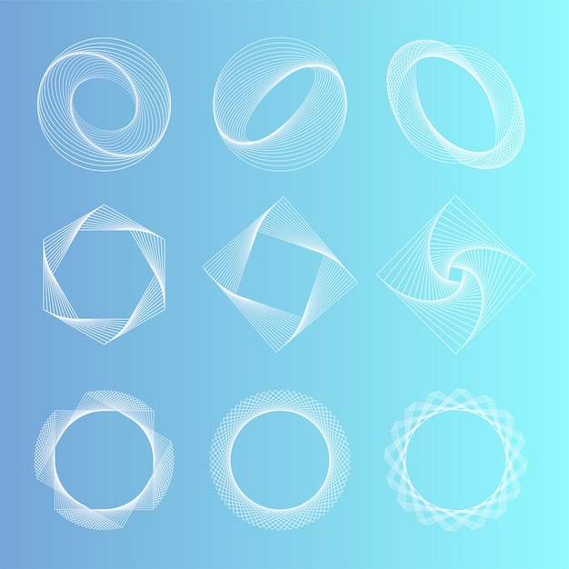 Abstract geometric elements set vector Free Vector