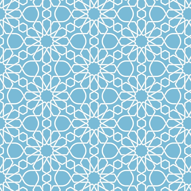 Abstract geometric islamic background Free Vector