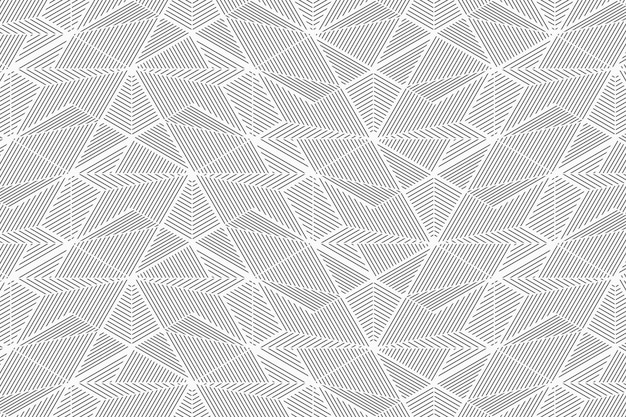 Abstract geometric lines seamless pattern Premium Vector