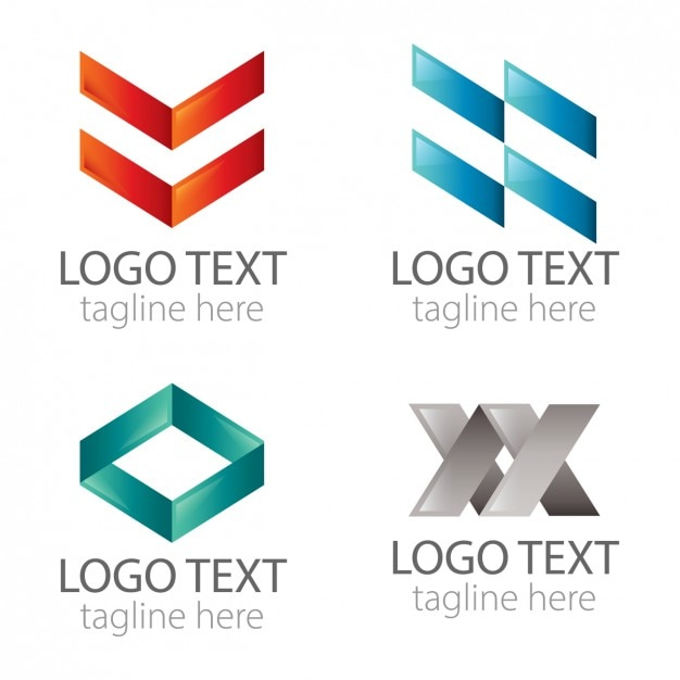 Abstract geometric logos pack Vector | Free Download