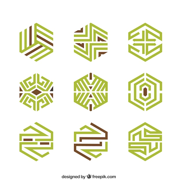 Abstract geometric logos Vector | Free Download