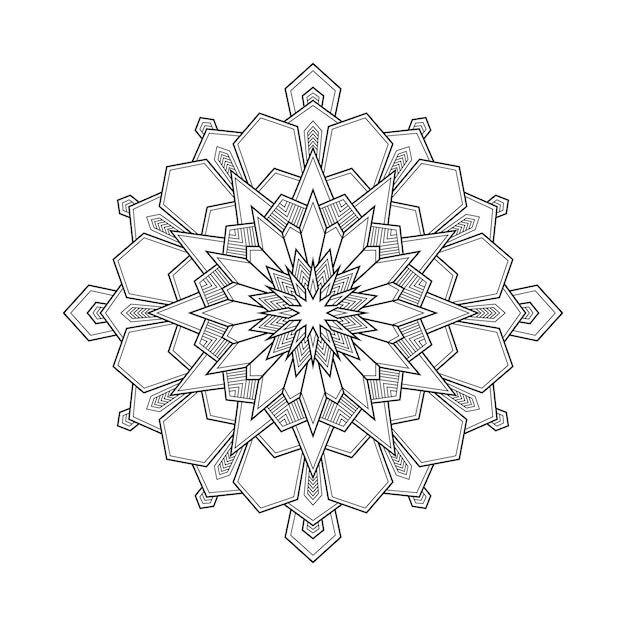 Premium Vector Abstract Geometric Mandala Arabesque Coloring Page Book Illustration T Shirt Floral Wallpaper Background