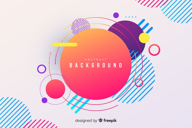 Abstract geometric modern circles background Premium Vector