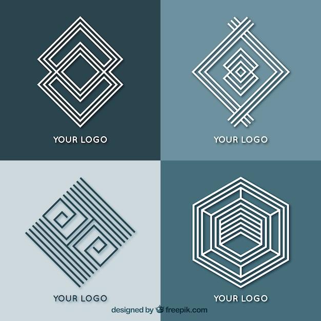 Abstract geometric monoline logos