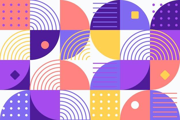 抽象的な幾何学的な壁画の背景 Premiumベクター