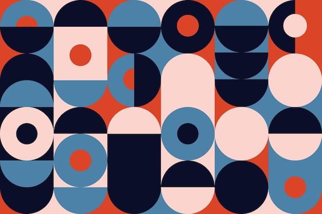 Абстрактные геометрические настенные обои Бесплатные векторы