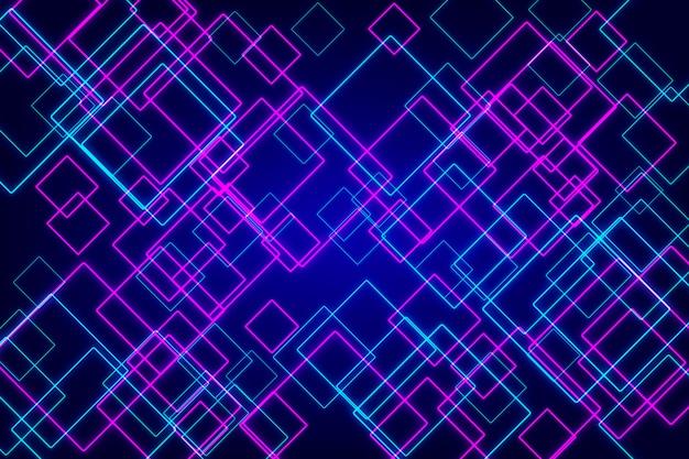 Abstract geometric neon Premium Vector