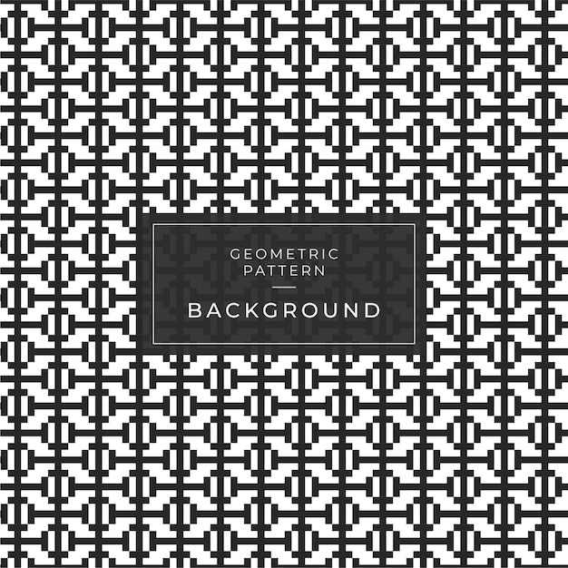 Abstract geometric pattern with stripes, lines. a seamless game background. black and white texture. Premium Vector
