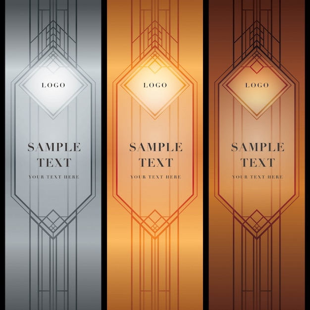 Abstract geometric patterned background, the great gatsby style Premium Vector