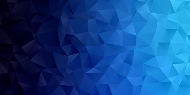 Abstract geometric polygon background wallpaper. header cover with triangle shape low polly blue Premium Vector