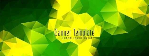 Абстрактный геометрический многоугольник дизайн баннера Бесплатные векторы