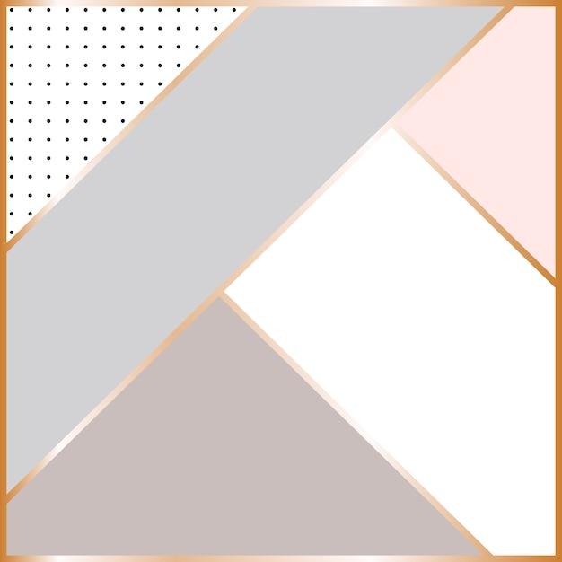 Abstract geometric scandinavian background. Premium Vector