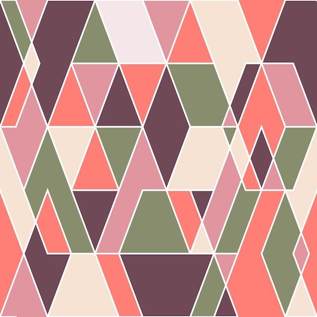 Abstract geometric seamless pattern. Premium Vector