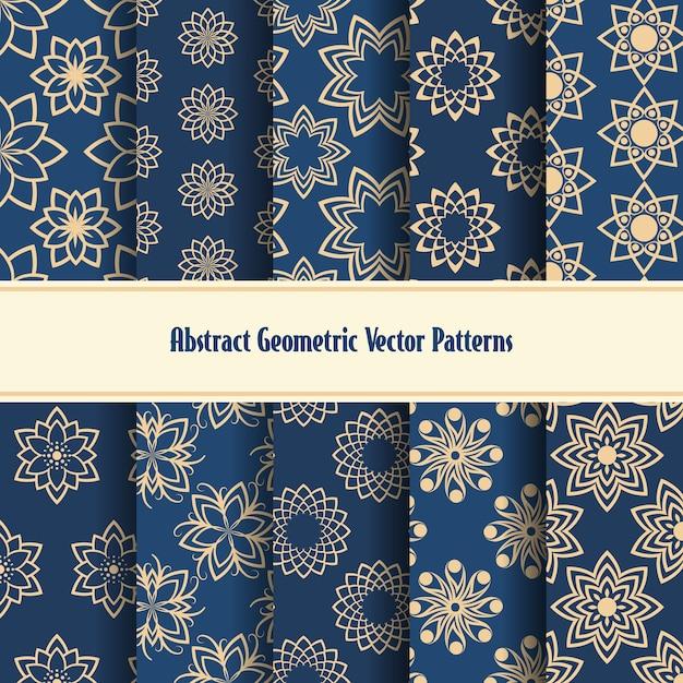 추상적 인 기하학적 완벽 한 패턴입니다. 무료 벡터