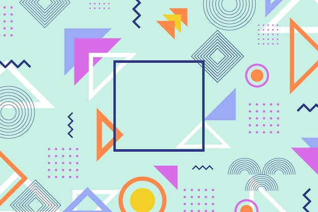 Abstract geometric shapes background Free Vector