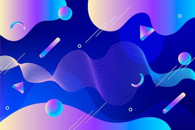 Abstract geometric shapes background Premium Vector