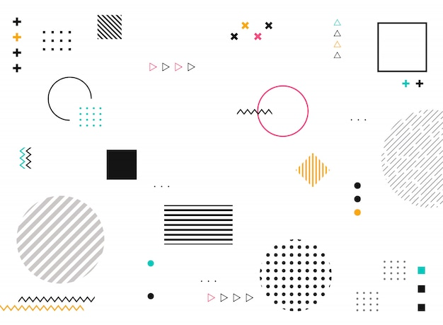 Abstract geometric shapes of colorful modern pattern Premium Vector