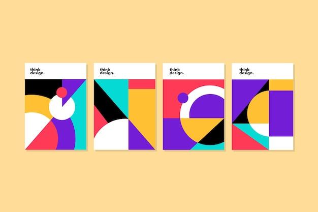 抽象的な幾何学図形カバー 無料ベクター