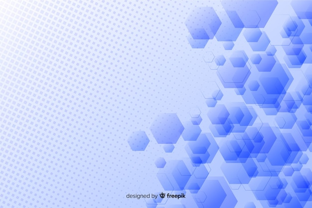 Abstract geometric shapes design Free Vector