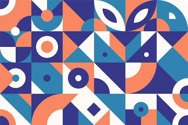 抽象的な幾何学的形状フラットデザイン 無料ベクター
