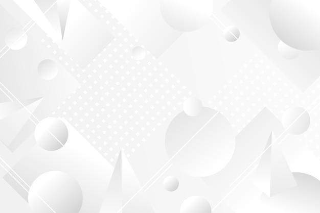 추상적 인 기하학적 모양 흰색 배경 프리미엄 벡터