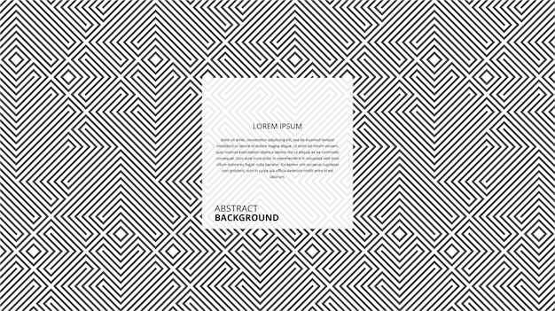 Abstract geometric square lines pattern Premium Vector