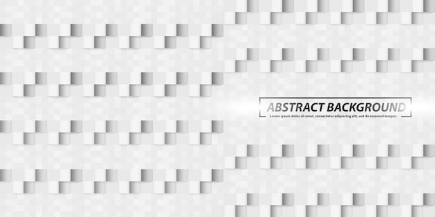Abstract geometric square shapes grey banner background Premium Vector
