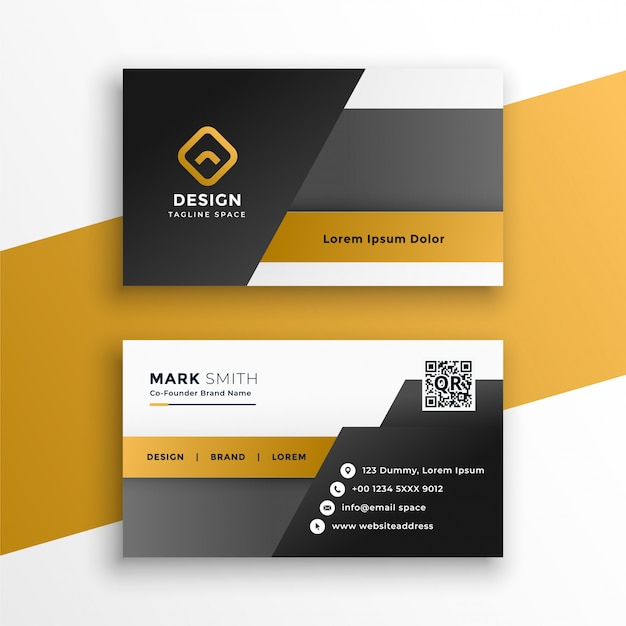 Abstract geometric style business card design template Free Vector