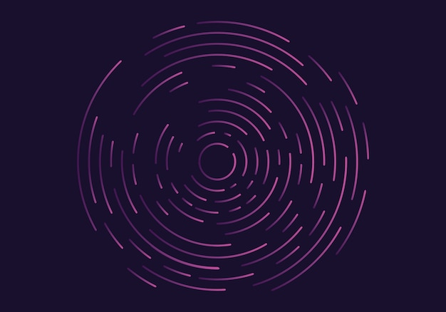 Abstract geometric vortex Premium Vector
