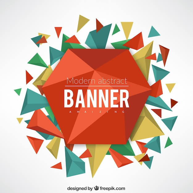 Abstract geometrical banner with\ triangles