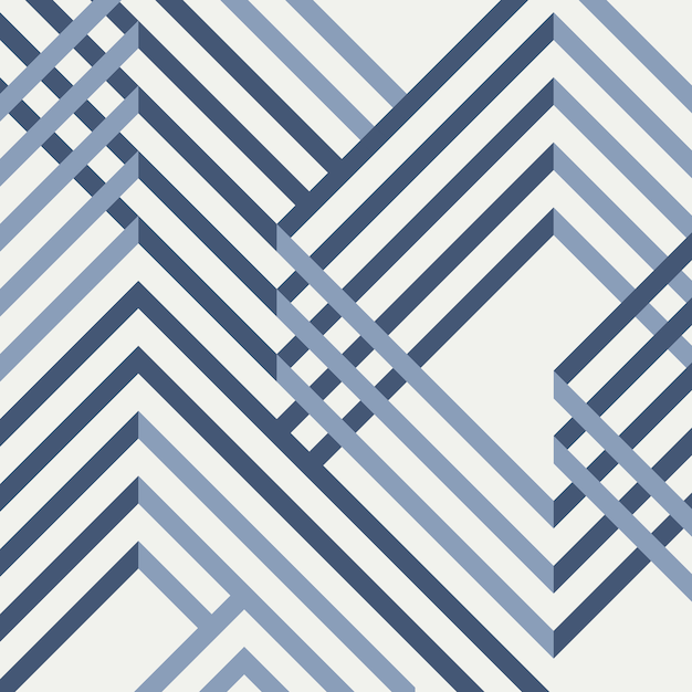 Abstract of geometrical blue pattern design. Premium Vector