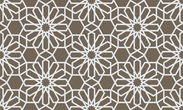 Abstract geometrical seamless pattern in arabian style Premium Vector