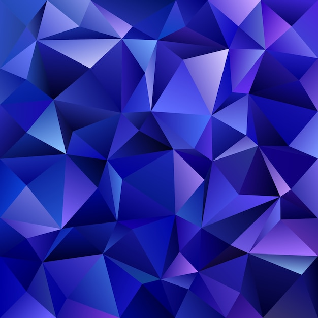 Abstract geometrical triangle mosaic background - vector graphic design from triangles in dark blue tones