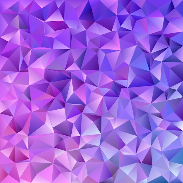 Abstract geometrical triangle tile mosaic background - vector graphic from triangles in purple tones Free Vector