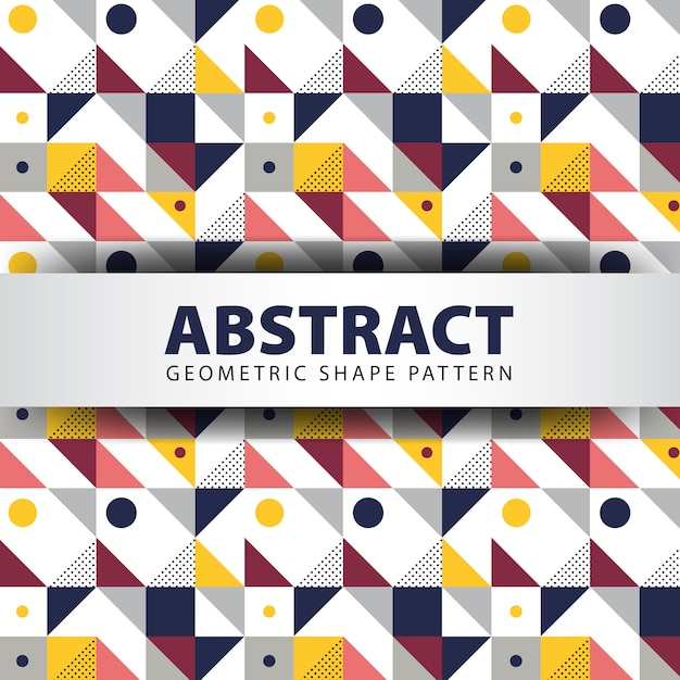 Abstract geomtetric shape pattern Premium Vector