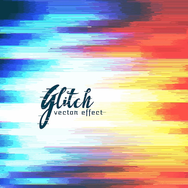 Abstract glitch distort effect Free Vector
