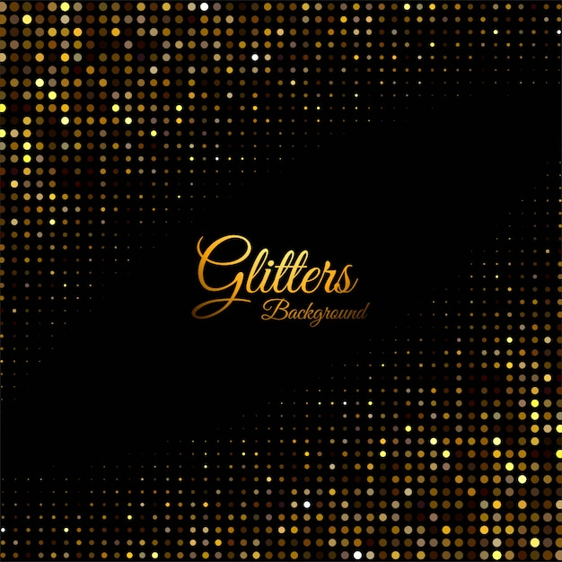 Abstract glitters dotted shiny Free Vector