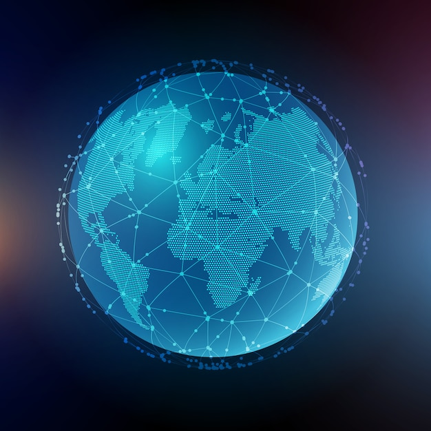 グローバルコミュニケーションの抽象的な背景 無料ベクター