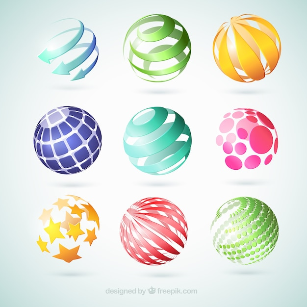 Abstract globes Free Vector