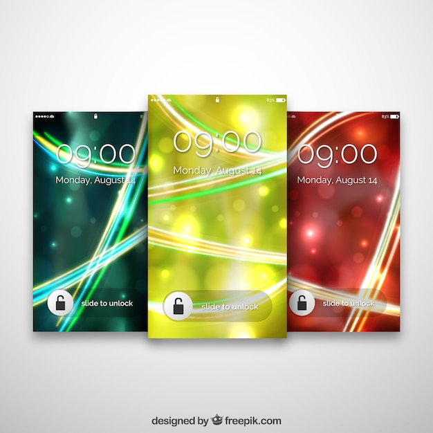 Abstract glossy mobile wallpapers pack