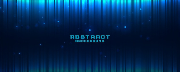 Abstract glowing blue banner background with vertical lines Free Vector
